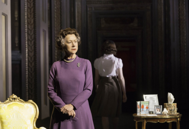 Helen Mirren's Queen Elizabeth stands alone in Peter Morgan's The Audience (Picture: Johan Persson)