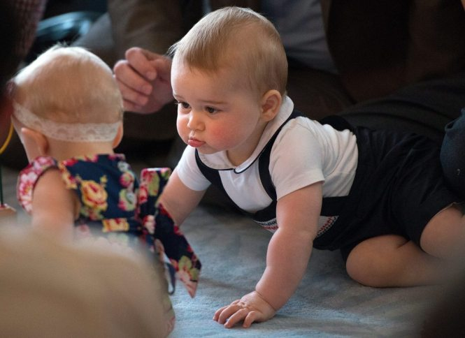 Prince George goes first official royal engagement is a crawl-about in New Zealand
