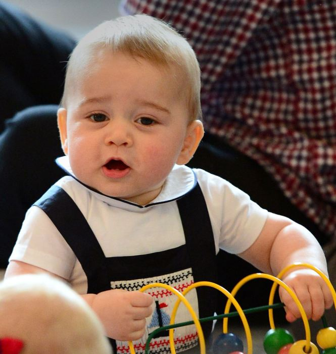 Prince George goes on crawl-about at first official royal engagement