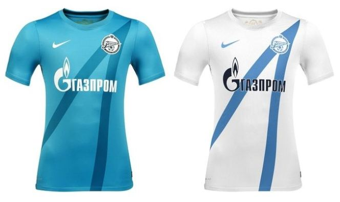 Change up? Zenit's current home (blue) and away (white) shirts